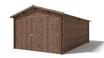 Garaż 350x600 cm brązowy