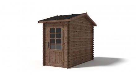 Domek ogrodowy NEMO 150x300 cm brązowy