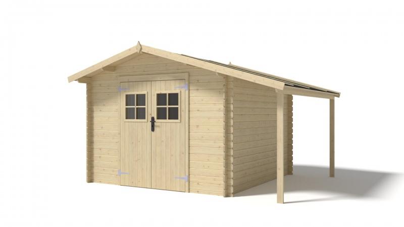 Domek ogrodowy PRESTIŻ 300x300+100 cm nieimpregnowany
