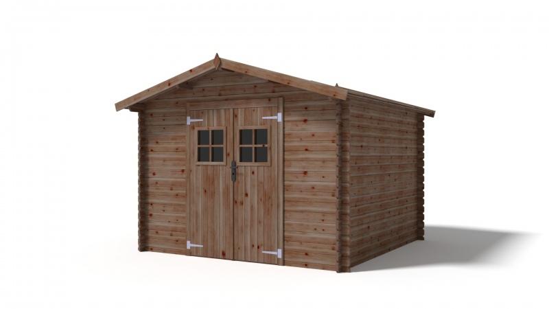 Domek ogrodowy 300x300 cm brązowy