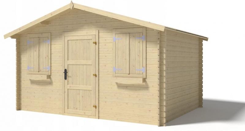 Domek ogrodowy 400x300 cm nieimpregnowany pełne drzwi
