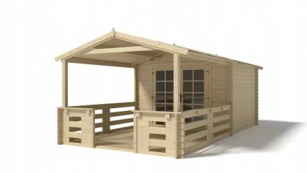 Domek ogrodowy altanka 3x3+3 m 28mm