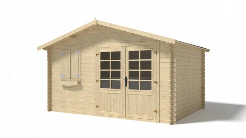 Domek ogrodowy altanka 4x3 28mm podwójne drzwi