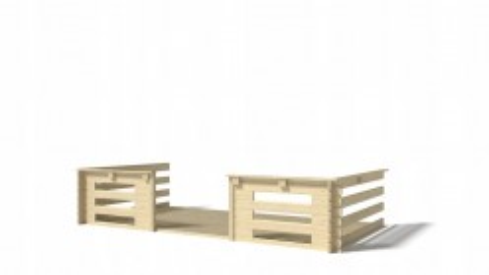 Weranda taras balustrada 4x3 do domku altanki 4m