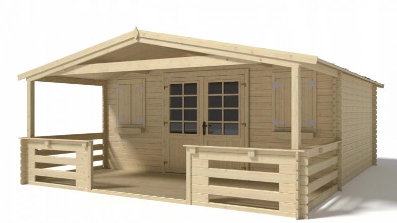 Domek ogrodowy altanka 500x400+200 28mm z werandą