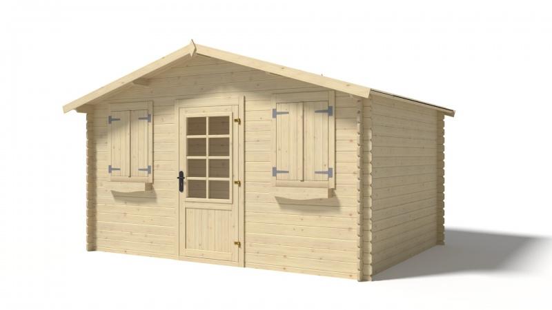 Domek ogrodowy 4x3 m nieimpregnowany