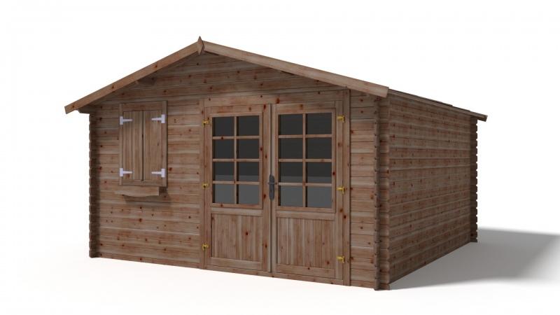 Domek ogrodowy 4x4 m impregnowany brązowy