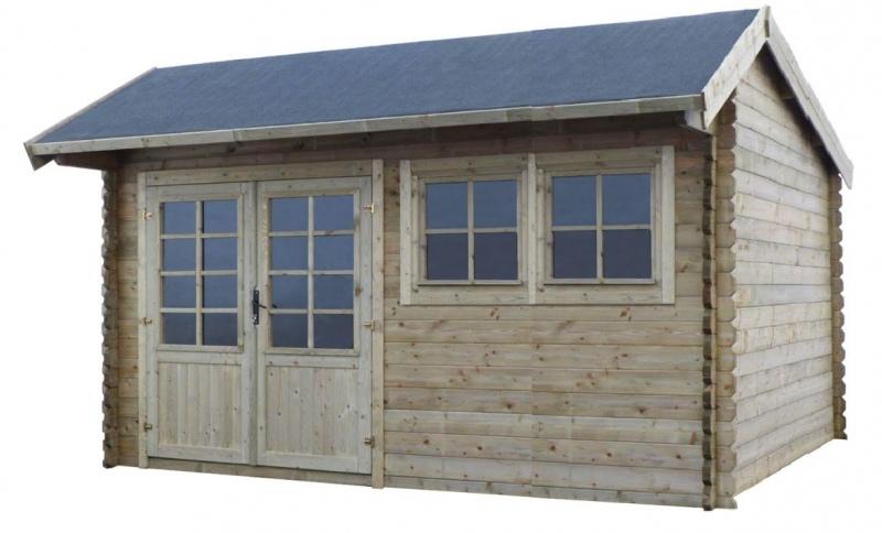 Domek ogrodowy 450x350 cm impregnowany ZIELONY