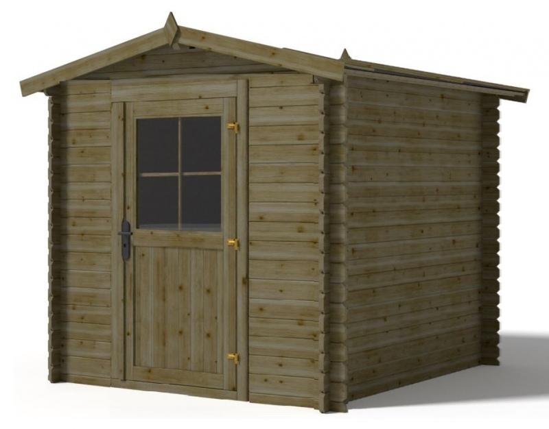 Domek ogrodowy 2,5x1,9 m 250x190 cm ZIELONY