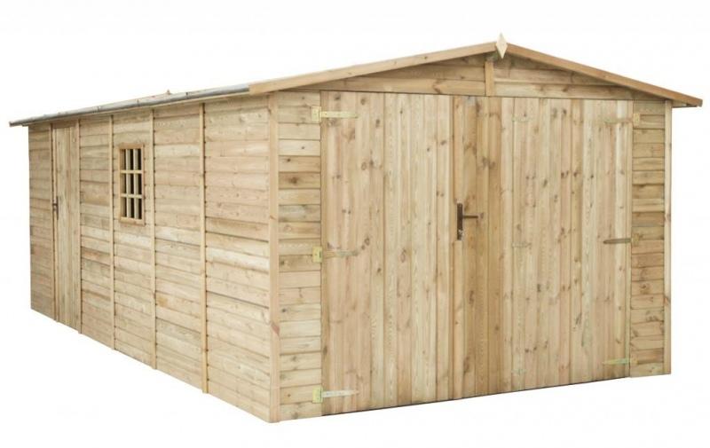 Garaż drewniany 300x600 cm zielony