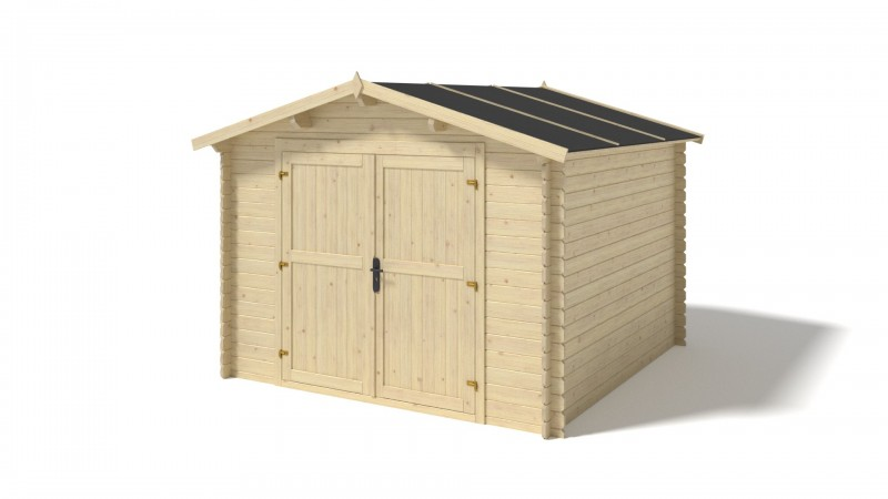 Domek ogrodowy 300x300 cm nieimpregnowany pełne drzwi