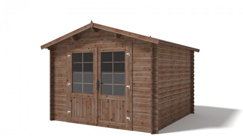 Domek ogrodowy 300x300 cm impregnowany brązowy