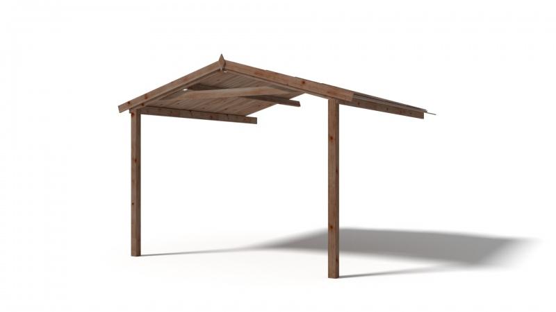 Zadaszenie werandy 3x3 do domku altanki 3m