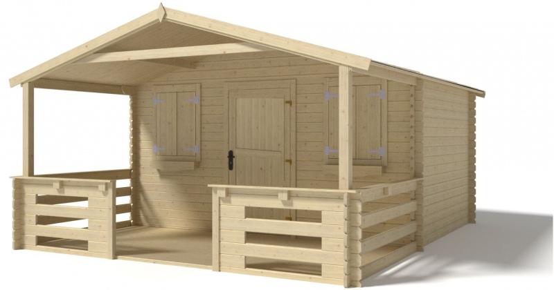 Domek ogrodowy altanka 4x3 28mm + taras 4x2