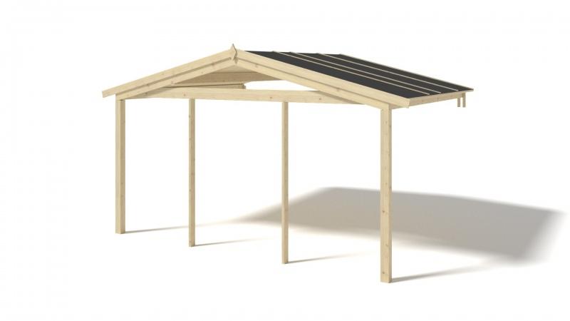 Zadaszenie werandy 4x3m do domku altanki 40 mm