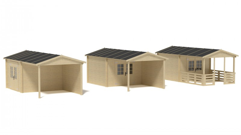 Domek ogrodowy PRESTIŻ 300x300 cm nieimpregnowany