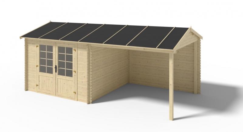 Domek ogrodowy 300x300+279 cm impregnowany 28mm