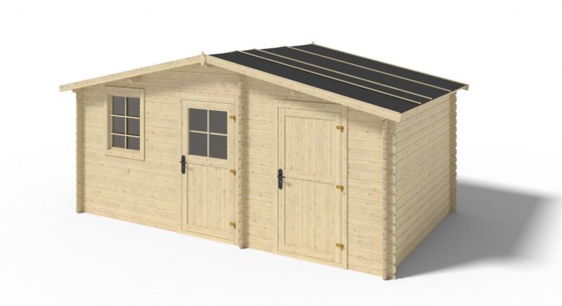 Domek ogrodowy 5x3 m z dwoma pomieszczeniami