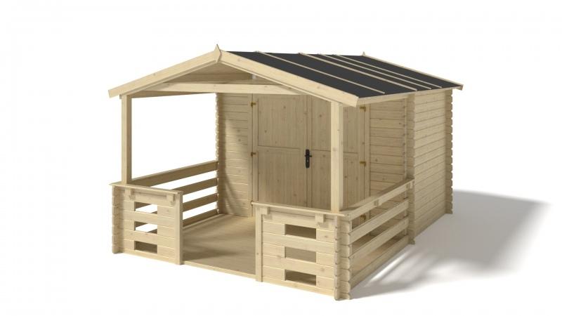 Domek ogrodowy altanka 3x2+2m 28mm weranda