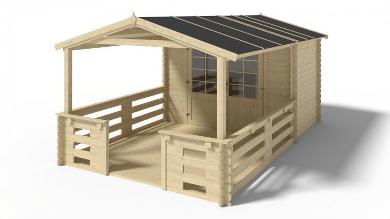 Domek ogrodowy altanka 3x2+3 m 28mm weranda