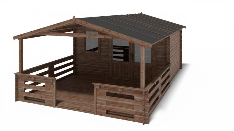 Domek ogrodowy 4x3m 400x300cm 34mm SZYBY