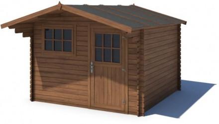 Domek ogrodowy KOMFORT 300x300+90 cm brązowy