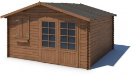 Domek ogrodowy 400x400 cm brązowy