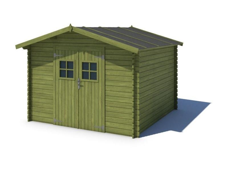 Domek ogrodowy PRESTIŻ 300x300 cm zielony