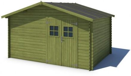 Domek ogrodowy PRESTIŻ 400x300 cm zielony