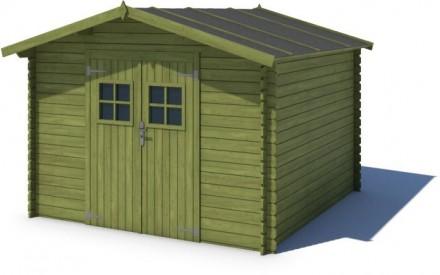 Domek ogrodowy PRESTIŻ 300x250 cm zielony
