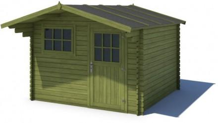 Domek ogrodowy KOMFORT 300x300+90 cm zielony