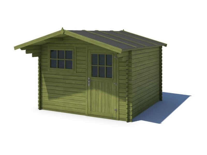 Domek ogrodowy KOMFORT 300x250+90 cm zielony
