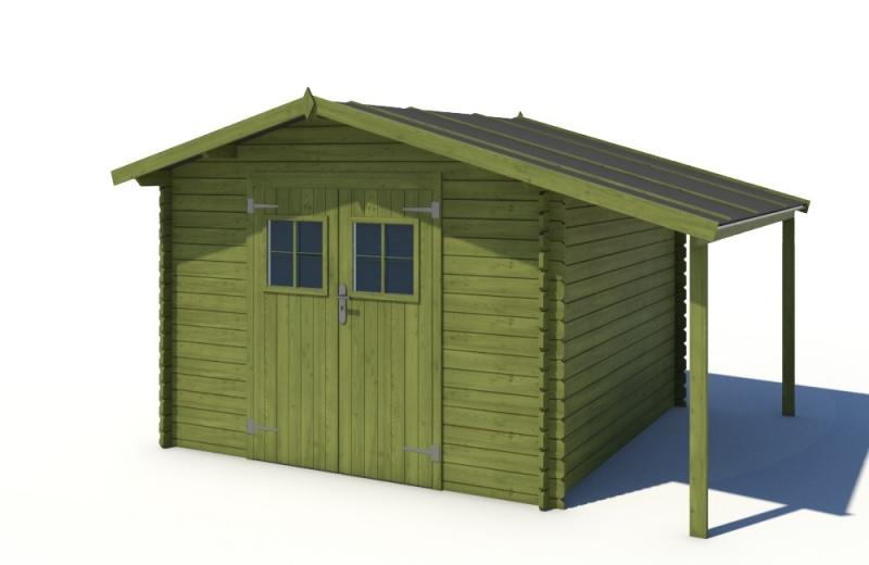 Domek ogrodowy 300x300+100 cm zielony