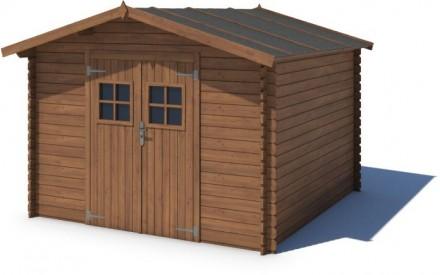 Domek ogrodowy 300x200 cm brązowy