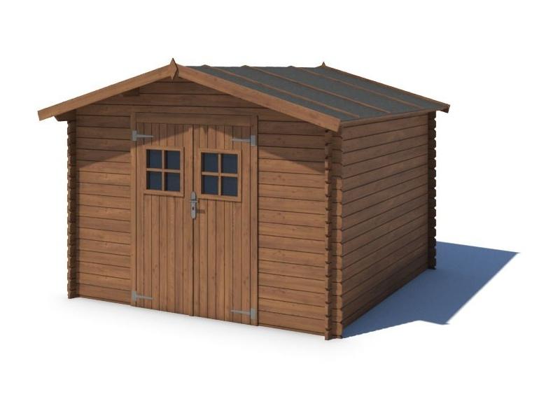 Domek ogrodowy 300x250 cm brązowy