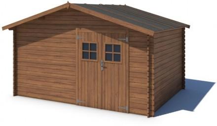 Domek ogrodowy 400x300 cm brązowy