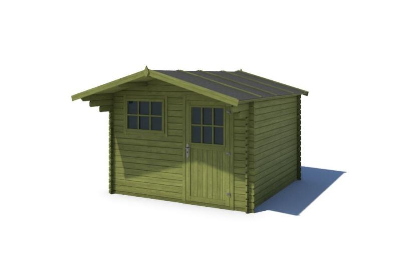 Domek ogrodowy KOMFORT 300x200+90 cm zielony