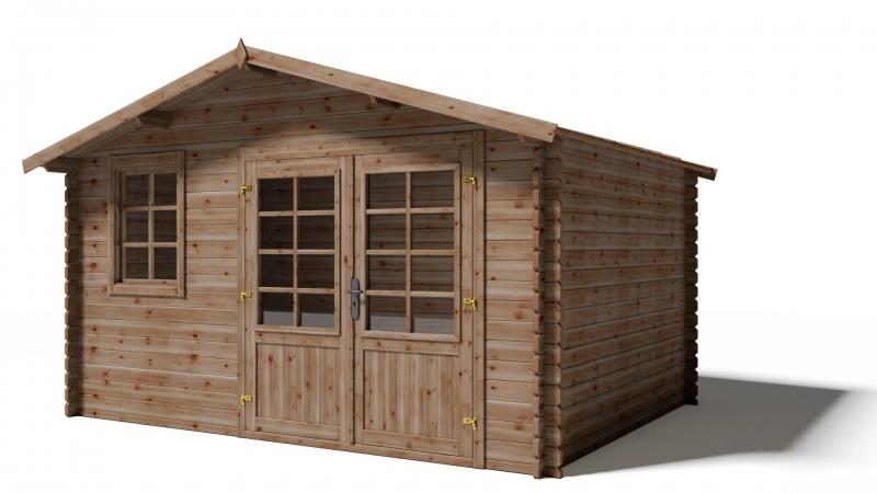 Domek ogrodowy KOMFORT 400x300 cm impregnowany BRĄZ