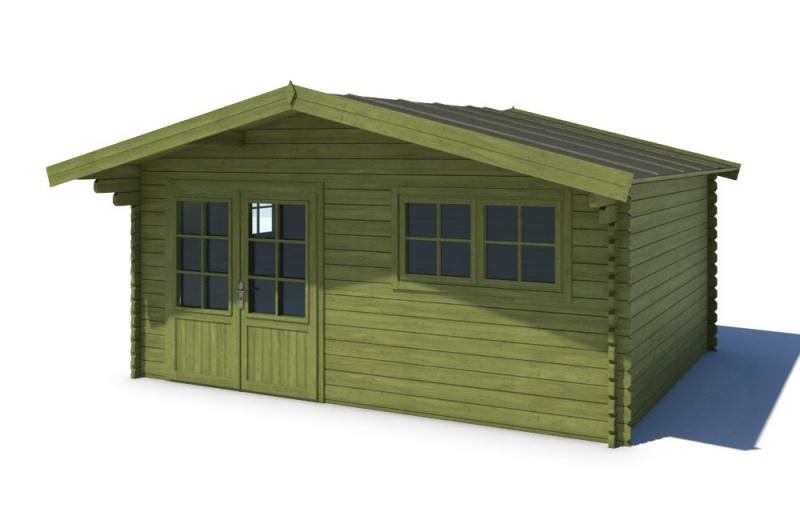 Domek ogrodowy 500x500 cm zielony