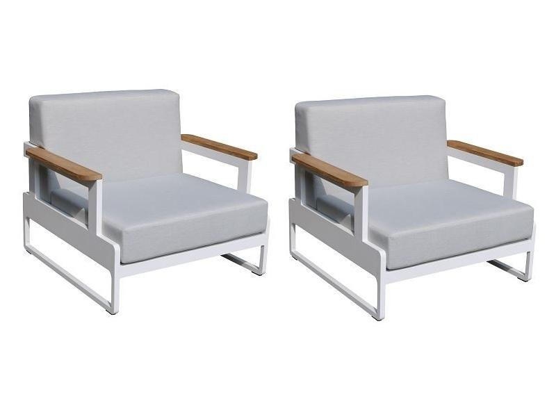 Fotele ogrodowe 90x85xH.77 cm - ZESTAW 2 szt.