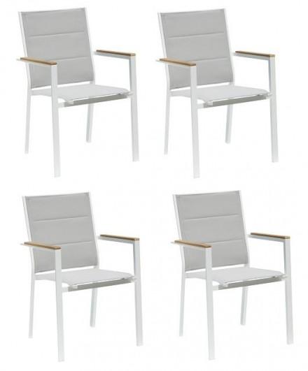Krzesła ogrodowe 57x55xH.90 cm - ZESTAW 4 szt.
